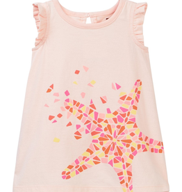 VAULT CLOTHES-Girl Tea Collection Sea Star Graphic Baby Dress 7M32304 SOFT PEACH