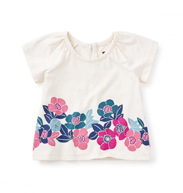 VAULT CLOTHES-Girl Tea Collection Tamaki Graphic Baby Tee 6W32111 CHALK