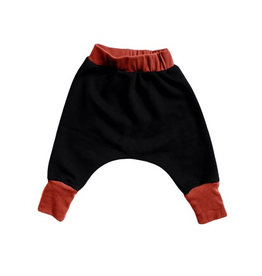 VAULT CLOTHES-Baby Boy Black Joggers with Brick Cuffs