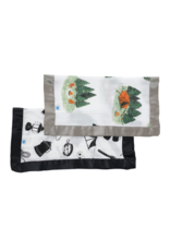 Happy Camper + Camp Gear Cotton Muslin Security Blankets, 2 Pack