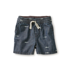 VAULT CLOTHES-Baby Boy Chambray Discovery Baby Short