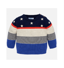 VAULT CLOTHES-Baby Boy Monnie Jumper with Stars and Stripes
