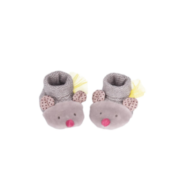 Grey Mouse Baby Slippers