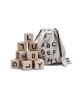 Black Alphabet Blocks