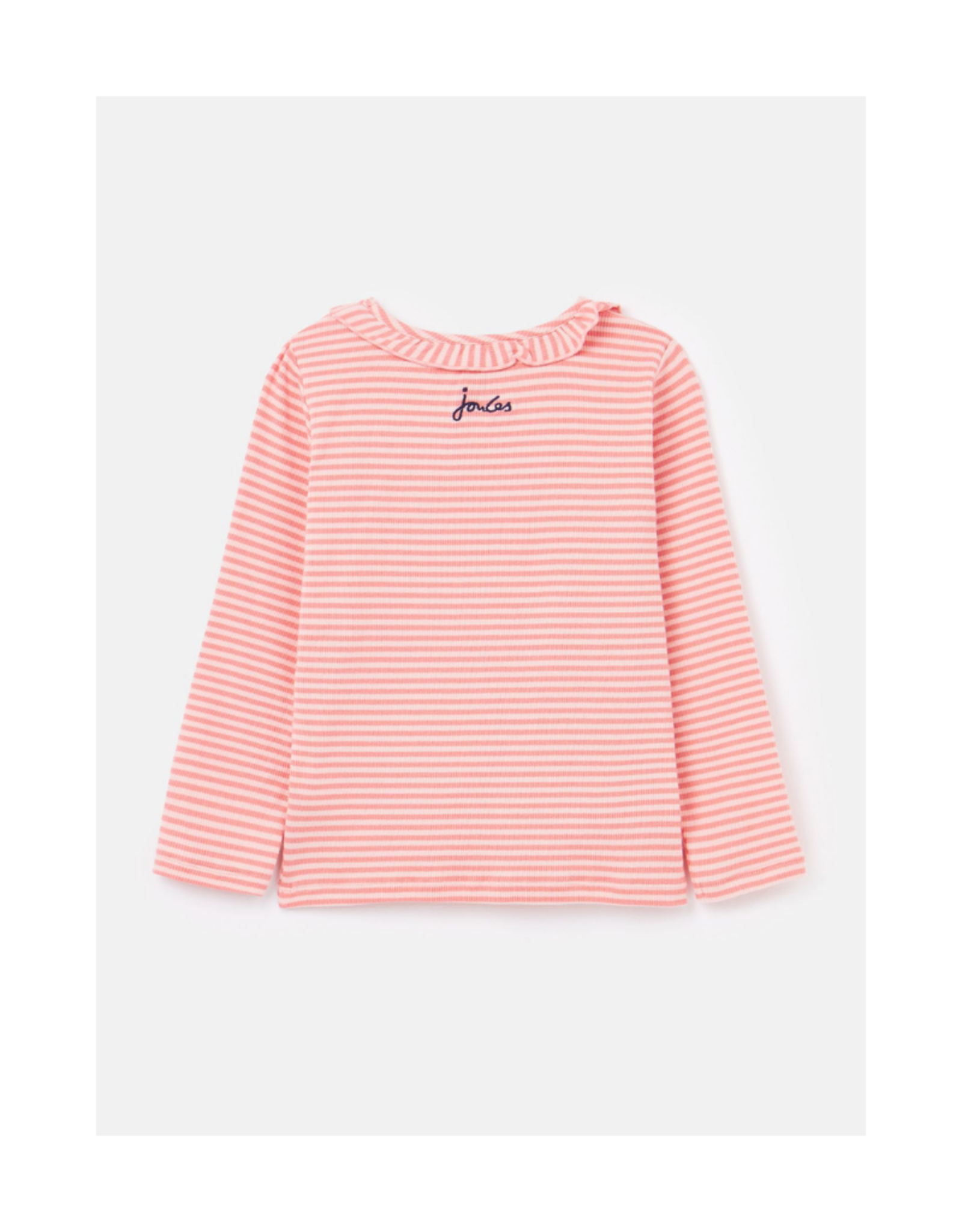 Muriel Rib Tee with Frill Neck
