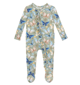Lucy Footie Ruffled Zippered One Piece