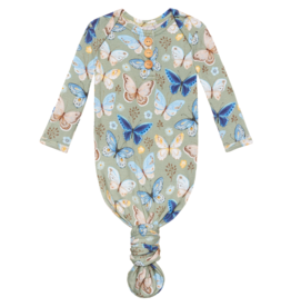 Lucy Wood Button Knotted Gown