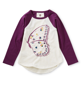 Butterfly Raglan Graphic Tee