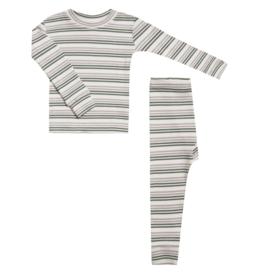 Ribbed Striped Pajamas Set
