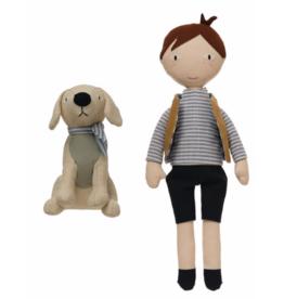 Boy & Dog Plush Set