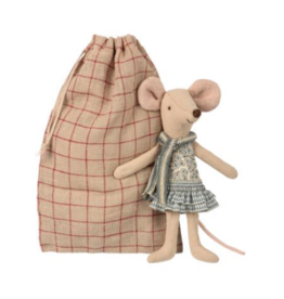Winter Big Sister Mouse In Bag
