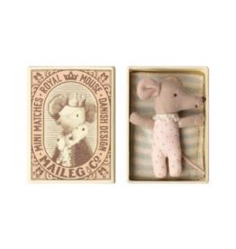 Sleepy/Wakey Baby Girl Mouse In Box