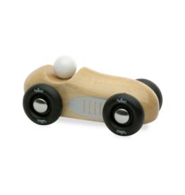 Natural Wood Mini Old Sports Car