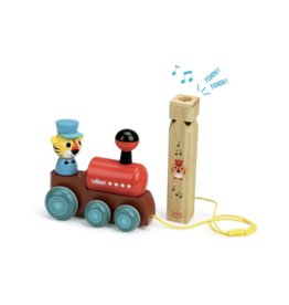 Train Pull Toy with Whistle