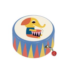 Drumming Elephant Music Box