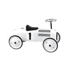Polar White Vintage Car