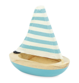 Blue Bath Sailboat