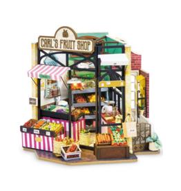 Carl's Fruit Shop DIY Miniature Dollhouse Kit