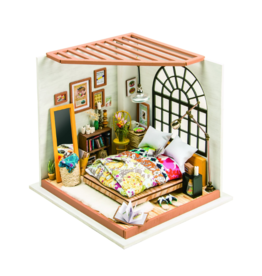 Alice's Dreamy Bedroom DIY Miniature Dollhouse Kit