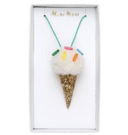 Ice Cream Pompom Necklace