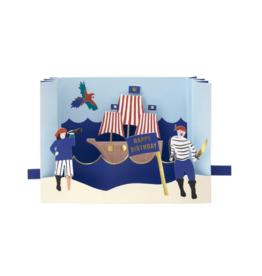Pirate Diorama Card