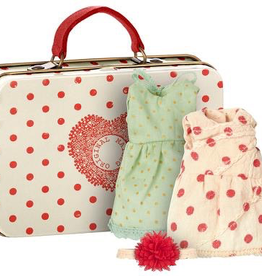 Maileg Big Sister Mouse Suitcase With 2 Dresses