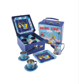 Construction Tin Coffee Set