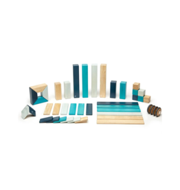 24-Piece Magnetic Wooden Blocks Set, Blues