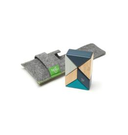 Pocket Pouch Prism Magnetic Wooden Blocks: Blues