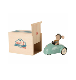 Mouse Car with Garage, Blue