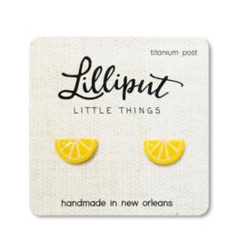 Lemon Wedge Earrings