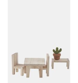Holdie Pinewood Dining Set