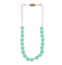 Juniorbeads Spring Heart Necklace - Spearmint
