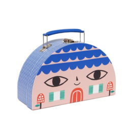 Double Face Suitcase: Little House & Bird