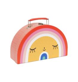 Double Face Suitcase: Rainbow & Sun