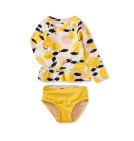 Ruffle Rash Guard Baby Swim Set