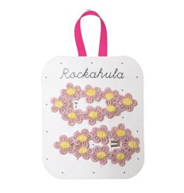 Crochet Flower Clips - Pink