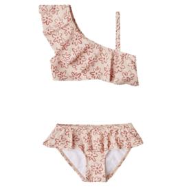 Flower Outline Skirted Bikini