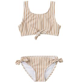 Striped Knotted Bikini
