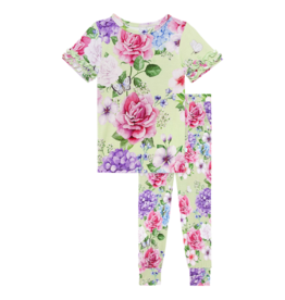 Georgina Ruffled Short Sleeve Pajamas