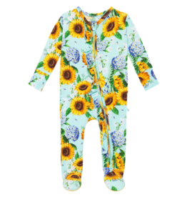 Sunny Footie Ruffled Zippered One Piece