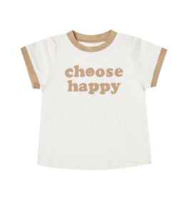 Choose Happy Ringer Baby Tee