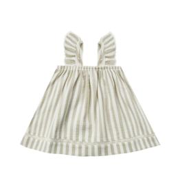 Woven Ruffle Tube Dress