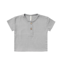 Woven Henry Top