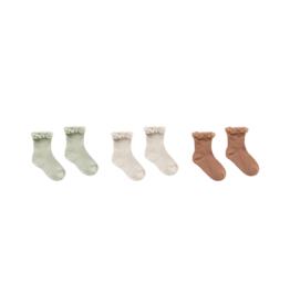 Lace Trim Socks Set