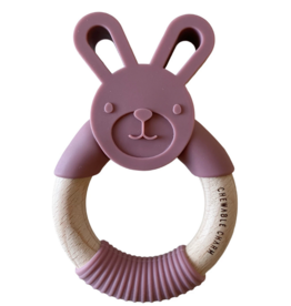 Bunny Silicone + Wood Teether - Mauvewood