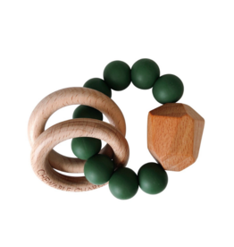 Hayes Silicone + Wood Teether - Kale