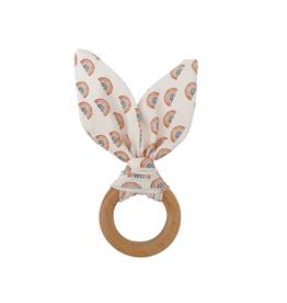 Crinkle Bunny Ears Teether - Rainbow