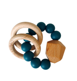 Hayes Silicone + Wood Teether - Shaded Spruce