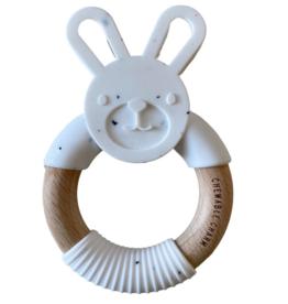 Bunny Silicone + wood Teether - Moonstone